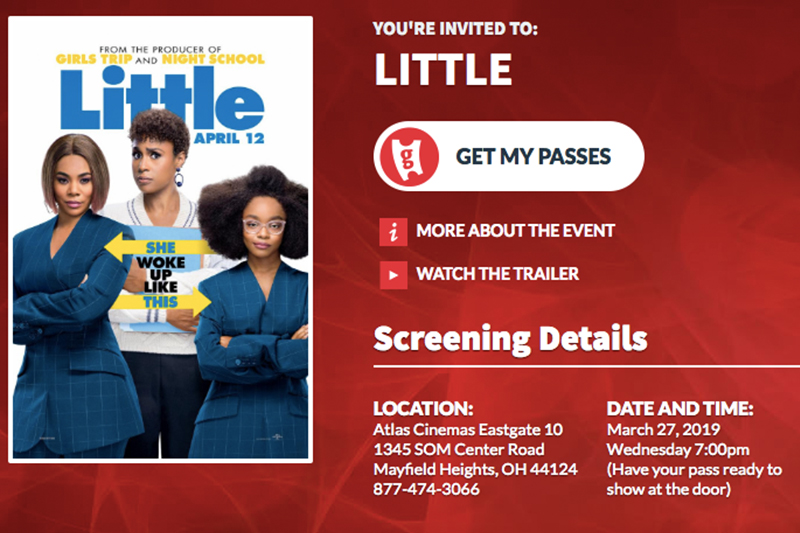 68f5ad6908b3 JOIN Courtney Covers Cleveland AT THE ADVANCED SCREENING OF LITTLE ...